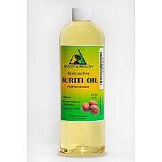 Buriti exotic fruit oil organic premium cold pressed 100% pure all natural 16 oz