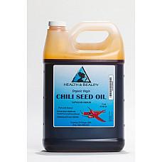 Chili pepper seed oil unrefined organic virgin cold pressed premium pure 7 lb