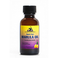 Marula oil unrefined organic virgin cold pressed raw pure glass bottle 1.0 oz