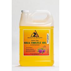 Milk thistle seed oil unrefined organic virgin cold pressed pure natural 7 lb