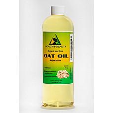 Oat oil organic carrier cold pressed premium natural fresh 100% pure 16 oz