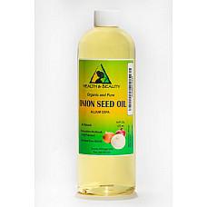 Onion seed oil organic premium cold pressed 100% pure all natural 16 oz