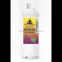Aloe vera juice organic whole leaf natural moisturizer raw material 12 oz