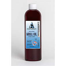 Antarctic krill oil natural by h&b oils center omega-3 epa & dha anti aging 12 oz