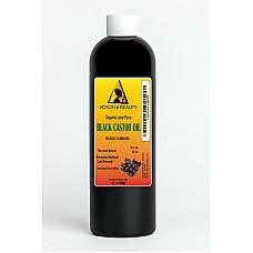 Black castor oil organic usp grade hexane free cold pressed premium pure 12 oz
