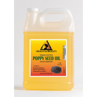 Poppy seed oil refined organic cold pressed 100% pure natural 7 lb