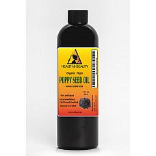 Poppy seed oil unrefined organic virgin cold pressed 100% pure natural 12 oz