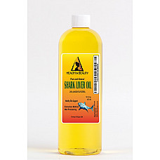 Shark liver oil with alkoxyglycerol by h&b oils center natural pure liquid 16 oz