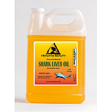 Shark liver oil with alkoxyglycerol by h&b oils center natural pure liquid 7 lb