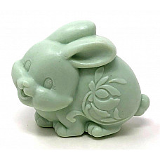 3d green easter bunny soap bar handmade all natural moisturizing body & skin