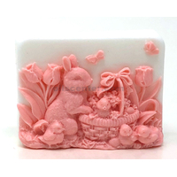 Easter bunny basket soap bar handmade all natural moisturizing body & skin