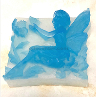 3d angel wings glycerin handmade crafted bar soap ocean mist scent