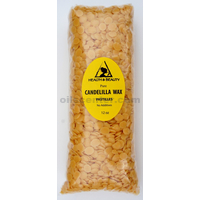 Candelilla wax flakes organic vegan beards pastilles prime 100% pure 12 oz
