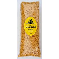Candelilla wax flakes organic vegan beards pastilles prime 100% pure 12 oz