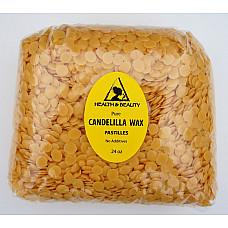 Candelilla wax flakes organic vegan beards pastilles prime 100% pure 24 oz