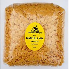Candelilla wax flakes organic vegan beards pastilles prime 100% pure 32 oz, 2 lb