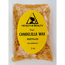 Candelilla wax flakes organic vegan beards pastilles prime 100% pure 2 oz