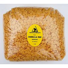 Candelilla wax flakes organic vegan beards pastilles prime 100% pure 48 oz, 3 lb