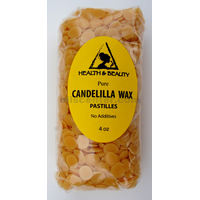 Candelilla wax flakes organic vegan beards pastilles prime 100% pure 4 oz