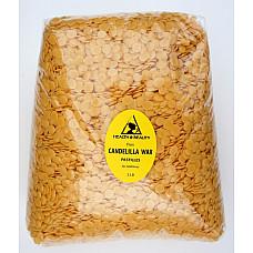 Candelilla wax flakes organic vegan beards pastilles prime 100% pure 5 lb