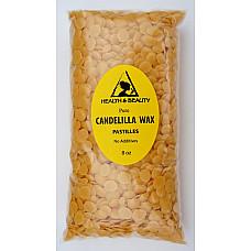 Candelilla wax flakes organic vegan beards pastilles prime 100% pure 8 oz