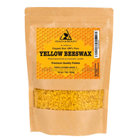 Yellow beeswax bees wax organic pastilles beards premium 100% pure 16 oz, 1 lb