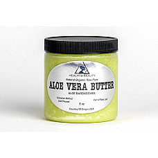 Aloe vera butter organic cold pressed raw premium quality fresh pure 8 oz