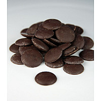 Dark/black cocoa butter chocolate wafers organic unrefined food grade 12 oz