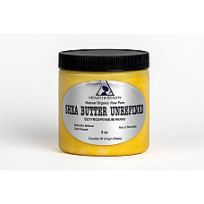 Shea butter unrefined yellow organic raw cold pressed grade a ghana pure 8 oz