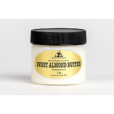 Sweet almond butter organic cold pressed premium quality fresh pure 2 oz