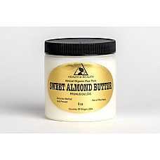 Sweet almond butter organic cold pressed premium quality fresh pure 8 oz