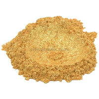 24 karat gold / yellow luxury mica colorant pigment powder cosmetic grade 1 oz