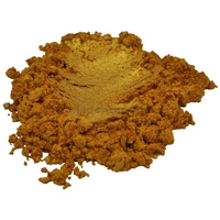 Aztec gold yellow orange luxury mica colorant pigment powder cosmetic grade 4 oz