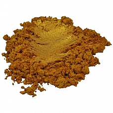 Aztec gold yellow orange luxury mica colorant pigment powder cosmetic grade 1 oz