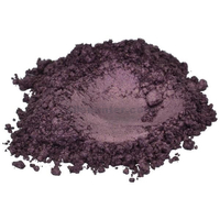 Black amethyst violet luxury mica colorant pigment powder cosmetic grade 4 oz