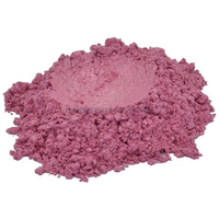 Cloisonne red pink pale violet mica colorant pigment powder cosmetic grade 1 oz