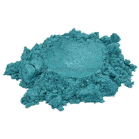 Coral reef blue turquoise mica colorant pigment powder cosmetic grade 2 oz