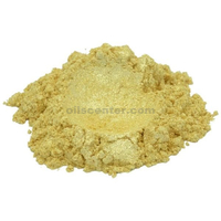 Gleaming gold yellow luxury mica colorant pigment powder cosmetic grade 4 oz