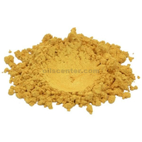 Gold basic yellow orange luxury mica colorant pigment powder cosmetic grade 1 oz