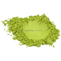 Green apple luxury mica colorant pigment powder cosmetic grade 4 oz