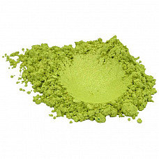 Green apple luxury mica colorant pigment powder cosmetic grade 1 oz