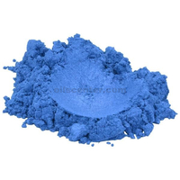 Sapphire blue luxury mica colorant pigment powder cosmetic grade eyeshadow 2 oz