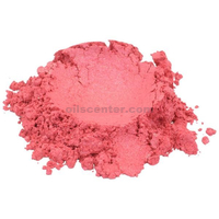 Shimmer raspberry pop / red mica colorant pigment powder cosmetic grade 1 oz