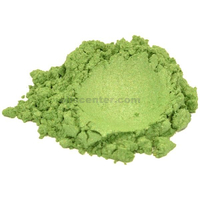 Soapberry green mica colorant pigment powder for soap making 4 oz