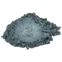Storm grey silver luxury mica colorant pigment powder cosmetic grade 4 oz