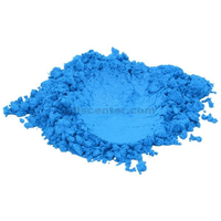 True blue mica colorant pigment powder cosmetic grade glitter eyeshadow 4 oz