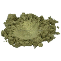 Verdigris gold / green luxury mica colorant pigment powder cosmetic grade 1 oz