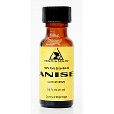 Anise essential oil aromatherapy natural 100% pure glass bottle 0.5 oz, 15 ml