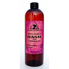 Basil essential oil linalool aromatherapy natural 100% pure 16 oz