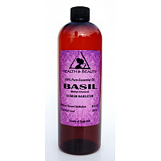 Basil essential oil methyl chavicol aromatherapy natural 100% pure 16 oz